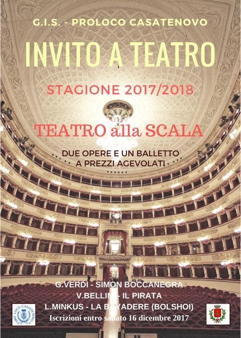 Calendario Teatro Alla Scala.Invito Alla Scala Eventi Pro Loco Pro Loco Casatenovo